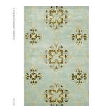 RugStudio presents The Rug Market America Rexford Beacon Hill Teal 44259 Teal/brown/yellow Hand-Tufted, Good Quality Area Rug